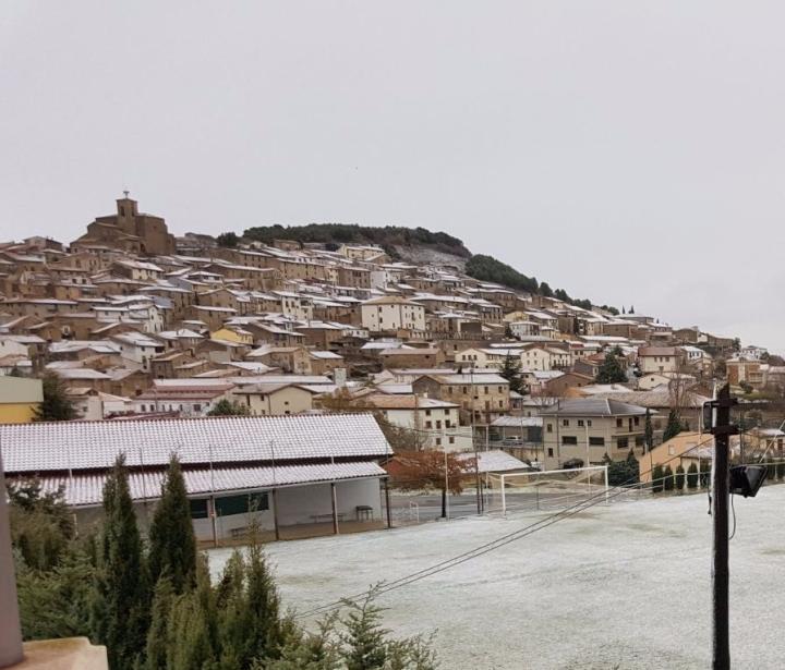 Viernes 1 de diciembre Aibar/Oibar nevada
