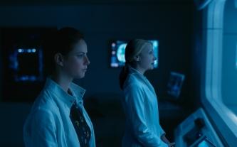 "Kaya Scodelario, left, and Patricia Clarkson in Twentieth Century Fox's ""Maze Runner: The Death Cure."""